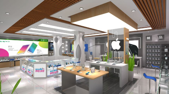和零售连锁展一起来看看手机店照明设计介绍