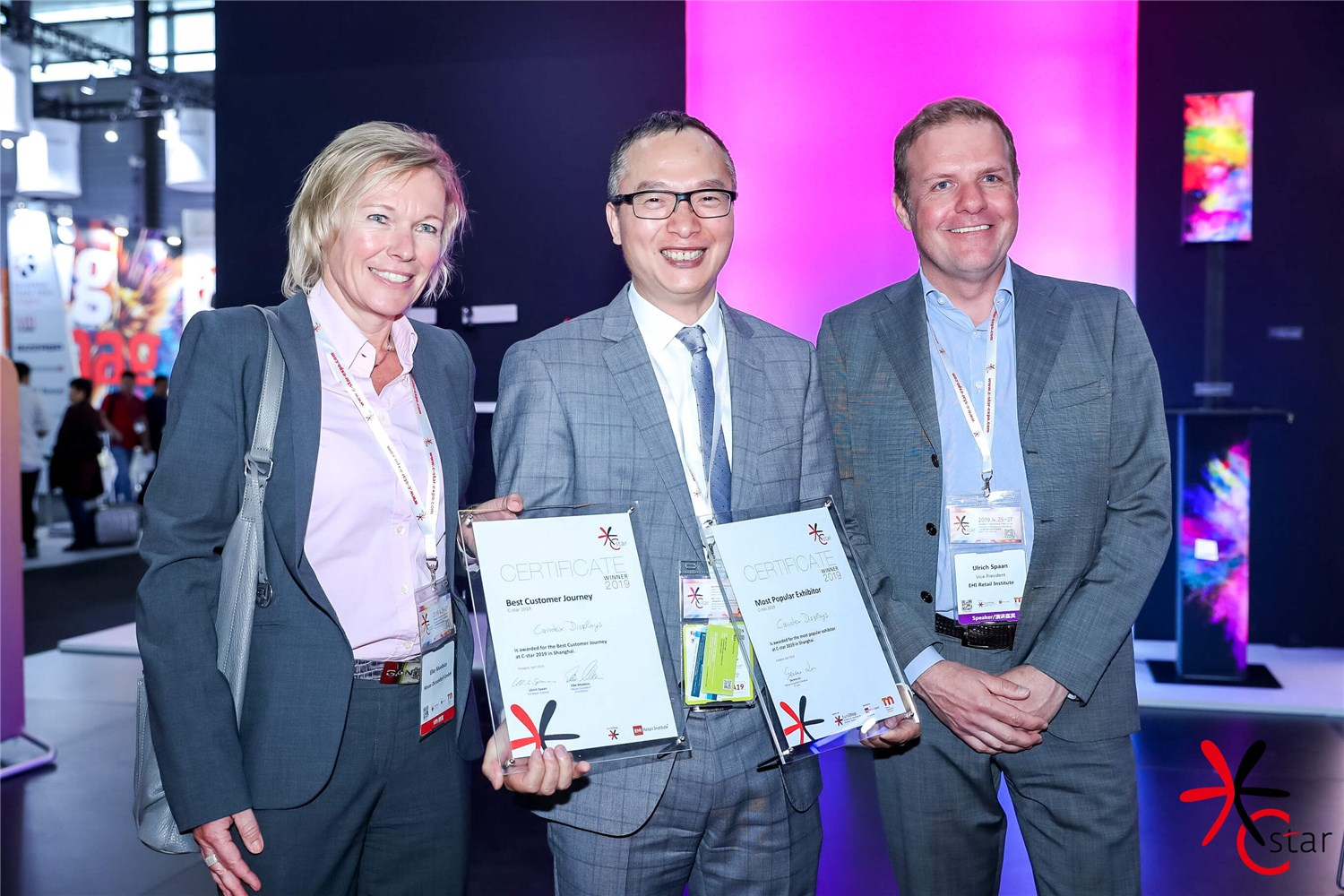 Outstanding Design: Best Stand Awards and Best Customer Journey at C-star 2019